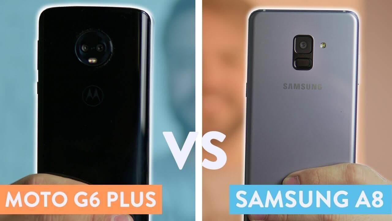 540053d90a2ea Moto G6 Plus vs Galaxy A8: a batalha do intermediário premium ...