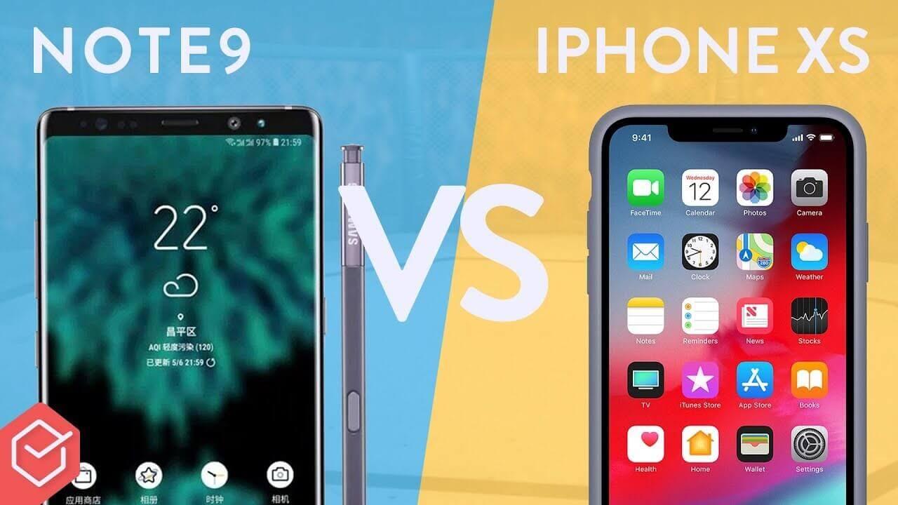 IPhone XS Vs Galaxy Note 9 [Comparativo]