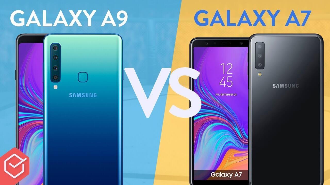 6b90fc6d89 Galaxy A9 vs Galaxy A7 2018 (Comparativo) - EscolhaSegura